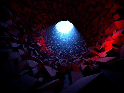 Tunnel Light greyscalegorilla c4d lighting render cinema4d