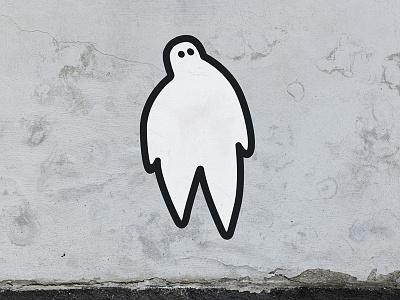 Ooooooo wall sticker phantom