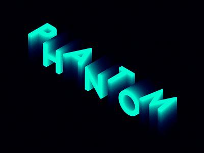 Phantom Fade c4d typography 3d