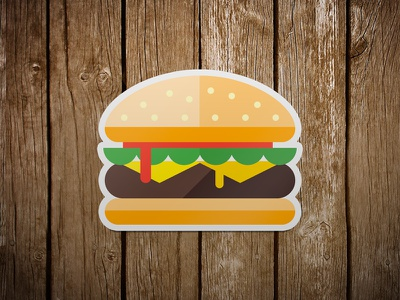 Mmmmm burger illustration sticker burger