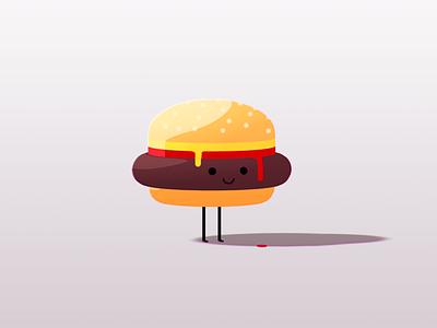 Burger Boy v2.0 illustration photoshop c4d burger