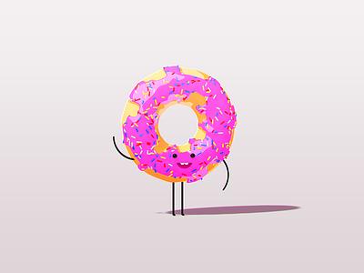oh Hi! illustration render cinema4d c4d character doughnut