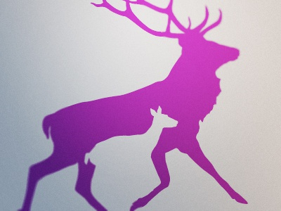 Fathers Network Scotland logo identity deer scotland father idea