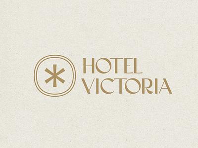 Hotel Victoria type logo design geometry texture branding badge brand logo