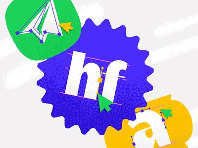 Type icons font icon logotype letters badge brand monogram logo