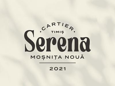 Serena typeface type logo design geometry logotype letters branding badge brand logo