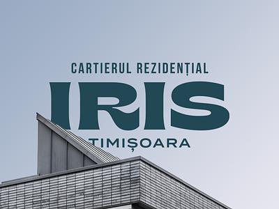 Iris logo design texture geometry logotype letters branding badge brand monogram logo