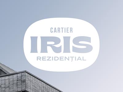 Iris type font real estate logo real estate texture logotype letters branding badge brand logo