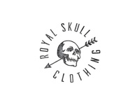 Royal Skull western tattoo arrow badge logo freebie free type typeface font skull royal