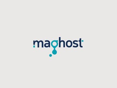 Maghost web virtual typography type server logo led installation hosting domains creative