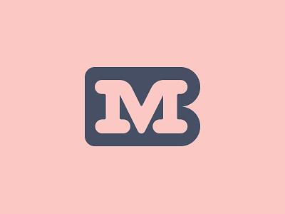 MB monogram texture monogram logotype design logo letters geometry branding brand badge