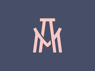AM monogram texture monogram logotype design logo letters geometry branding brand badge