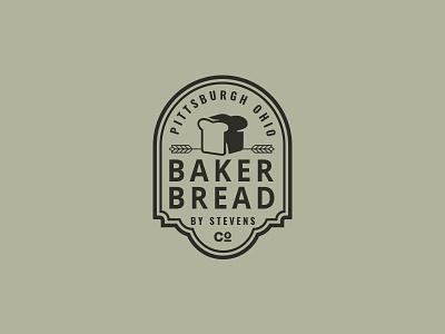 Bread badge spike shop rolling pretzel pin pastry logo kansas harvest bread bakery baker