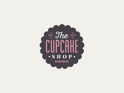 The cupcake shop vintage cake homemade shop cupcake logo