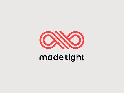 Made Tight custom creative identity web design brand red icon logo