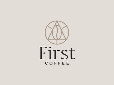 First Coffee specialty brand typeface font drop icon badge logo shop coffee