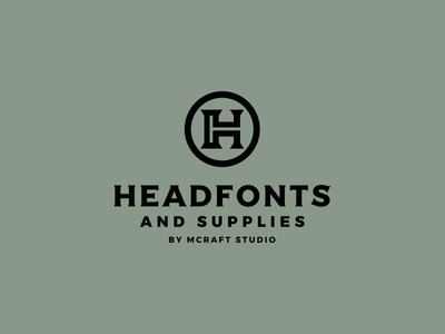 Headfonts h custom logo monogram typeface typography font