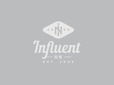 Influent UK creative design in monogram influent stickers print badge logo