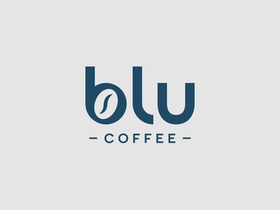 Blu Coffee roastery shop artisan roaster coffee typography typeface font design icon logo design geometry texture logotype branding letters badge brand monogram logo