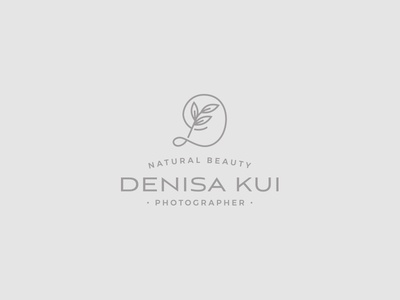 Denisa Kui Photographer beauty leaf nature photography photo icon logo design branding brand monogram logo