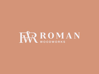 RW monogram woodworking woodworks carpenter wood typography typeface font type design geometry logotype branding letters badge brand monogram logo