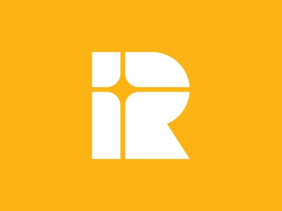 R monogram christianity church radius christian cross typeface logo design geometry logotype branding letters badge brand monogram