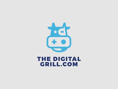 The Digital Grill icon design illustration geometry branding brand logo talk games digital cows