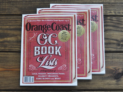 Orange Coast Magazine magazine lettering orange county oc louisville book old