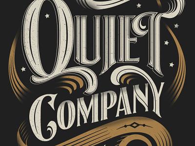 Quiet Company t-shirt t-shirt shirt quiet company lettering type screen print louisville kentucky austin texas music merch