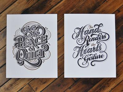 Letterpress Prints prints black gold typism lettering letterpress