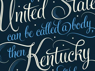 Jesse Stuart Prints kentucky map united states louisville screenprint poster lettering type