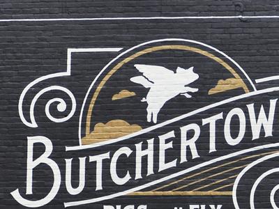 Butchertown Mural mural pork louisville kentucky street art butcher