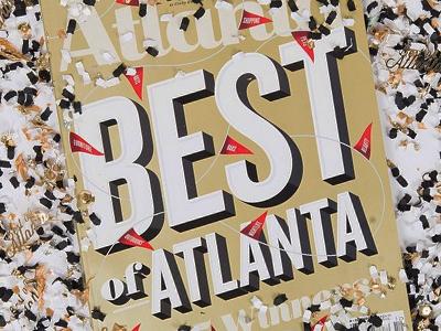 Best of Atlanta Cover magazine cover best metallic atl banners