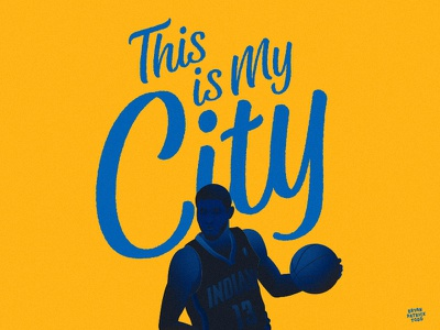 My City ball hoops illustration basketball pg13 pacers