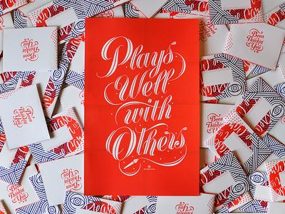 Promo Mailer fun promo mailer lettering poster print