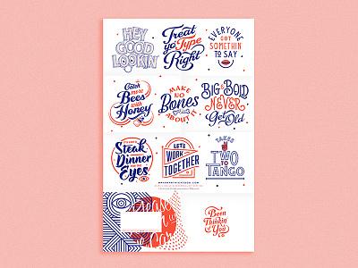 Promo Mailer- Inside mail print poster type fun lettering illustration promo