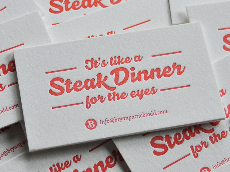 Bidness Cards business cards letterpress steak type simple crane louisville louisville kentucky kentucky