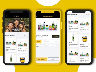 AfroVirtue _ Product Details home store buy now add to cart product details product page design ux ui mobile app ui design