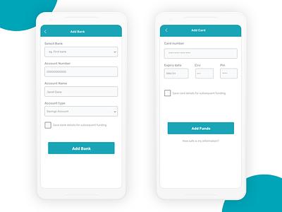 Finance App -WIP finance app ux design ui design add card add bank
