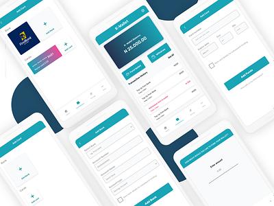Finance App - WIP add funds e-wallet add card finance app ui design mobile app