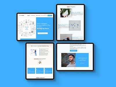Website Redesign-Concept blue website redesign figma responsive design website design mobile apps ux design ui design