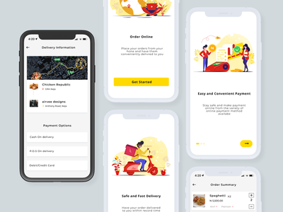 Onboarding/Delivery restaurant app