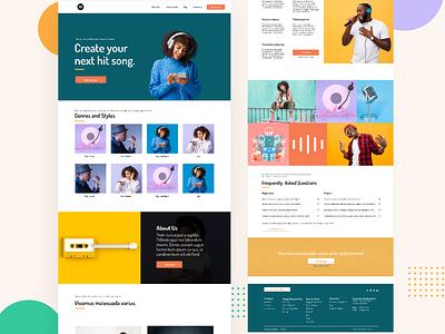 Website Design for music platform - Avva landing page design music design
