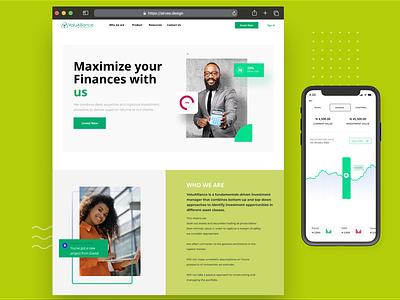 Website redesign proposal for Valualliance finance app ui design mobile app finance uidesign landing page design web design