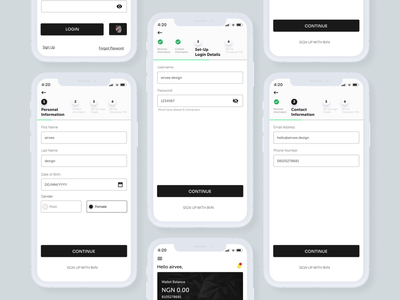 Mobile forms mobile ui