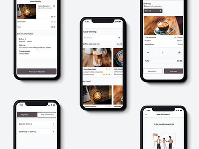 Kafes - A coffee Ordering App design mobile app ui design coffee