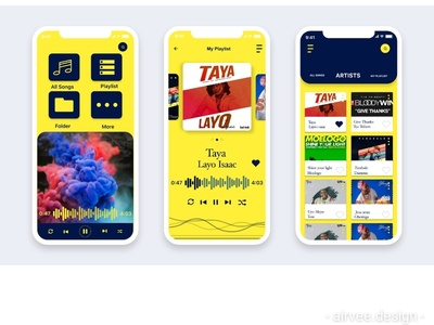Music App UI playlist mobile app design mobile app ui music app ui design logo