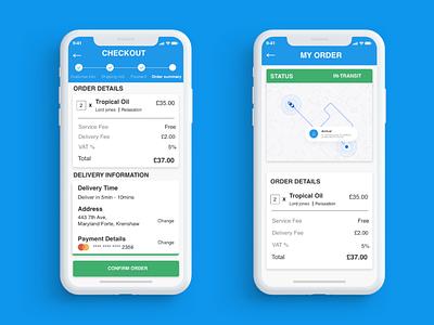 ORDER checkout page order delivery ui mobile app adobe xd ui design