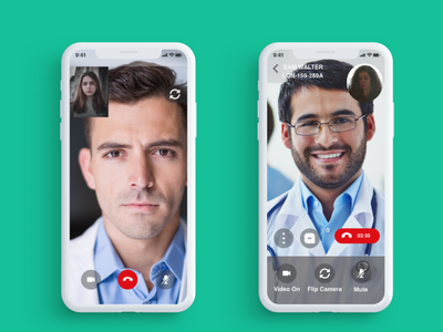 VIDEO CALL SCREEN design mobile app ui design wireframe