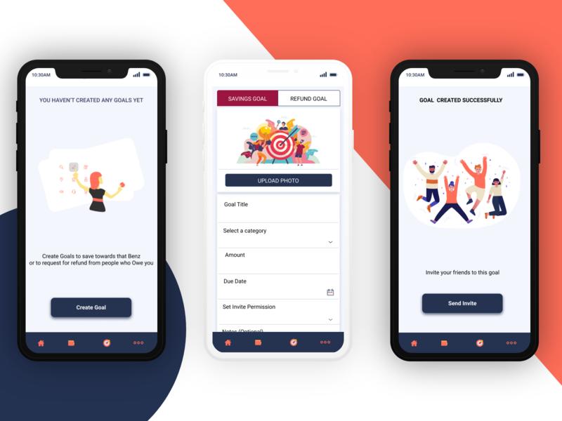 SAVINGS APP mobile form saving adobe xd mobile app ui design